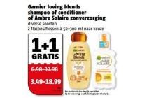garnier loving blends shampoo of conditioner of ambre solaire zonverzorging