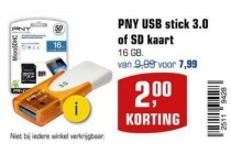 pny usb stick 3 0 of sd kaart