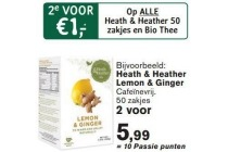 heath en heather 50 zakjes en bio thee
