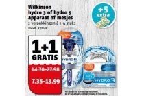 wilkinson hydro 3 of hydro 5 apparaat of mesjes
