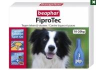 beaphar fiprotec dog 10 20 kg teken en vlooien middel