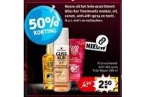 gliss kur treatments masker oil serum anti klit spray en tonic