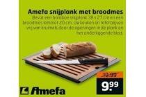amefa snijplank met broodmes