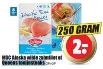 msc alaska wilde zalmfilet of queens tonijnsteaks