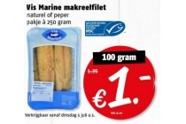 vis marine makreelfilet