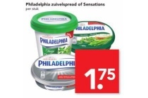 philadelphia zuivelspread of sensations