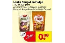 lonka nougat en fudge