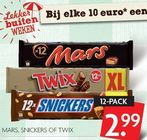 mars snickers of twix 12 pack