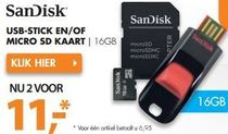 sandisk usb stick en of micro sd kaart