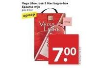 vega libre rose 3 liter bag in box spaanse wijn