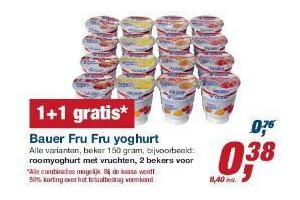 bauer fru fru yoghurt