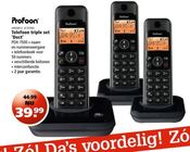 telefoon triple set dect