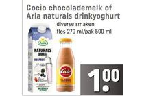 cocio chocolademelk of arla naturals drinkyoghurt