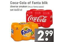 coca cola of fanta blik