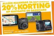 alleen maandag 26 september 20 korting op navigatie en dashcams
