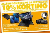alleen donderdag 29 september 10 korting op laptops tablet smartphones etc