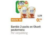 bambix 2 packs en olvarit peutermenu