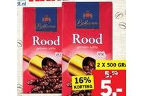 bellarom gemalen koffie rood