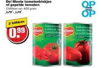 del monte tomatenblokjes of gepelde tomaten
