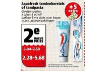 aquafresh tandenborstels of tandpasta