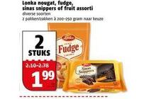 lonka nougat fudge sinas snippers of fruit assorti