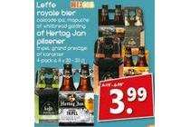 leffe royale bier of hertog jan pilsener