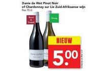 danie de wet pinot noir of chardonnay sur lie zuid afrikaanse wijn
