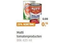 mutti tomatenproducten