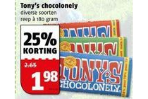 diverse soorten tony s chocolonely