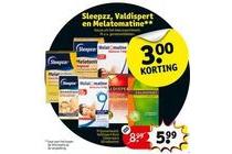sleepzz valdispert en melatomatine
