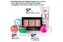 etos cc radiance cream lipbalm en shaping en highlighting