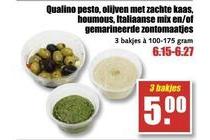 alle qualino tapas 3 bakjes voor eur5