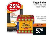 gehele assortiment tiger balm nu 25 korting