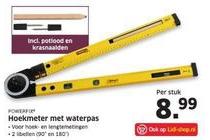 hoekmeter met waterpas nu eur8 99 per stuk