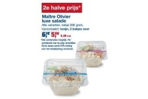 maitre olivier luxe salade