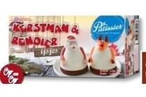 patissier kerstman en rendier ijsjes