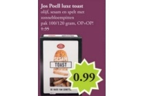 jos poell luxe toast eur0 99