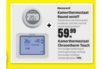 kamerthermostaat round on off en kamerthermostaat chronotherm touch