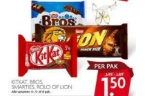 kitkat bros smarties rolo of lion