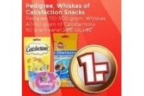 pedigree whiskas of catisfaction snacks
