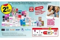 2e halve prijs op diverse doucheproducten nu met gratis 2e kaartje huishoudbeurs