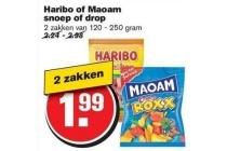 haribo of maoam snoep of drop