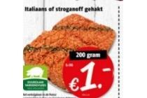 italiaans of stroganoff gehakt