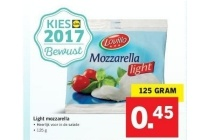 light mozzarella