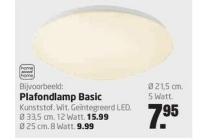 home sweet home plafondlamp basic lad 21 cm 5w