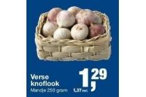 verse knoflook