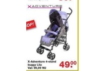 x adventure 4 stand buggy lila