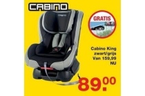 cabino king zwart grijs
