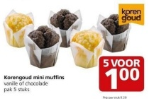 korengoud mini muffins jan linders