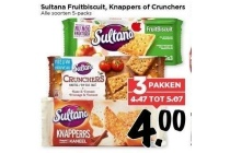 sultana fruitbiscuit knappers of crunchers